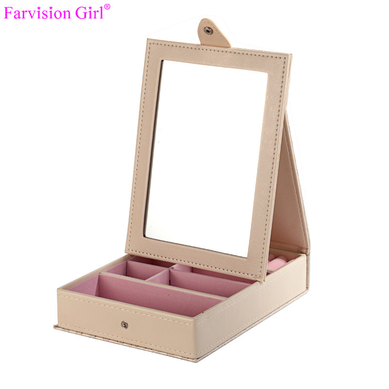 Ice Cream White Box Birthday Little Girl gift box jewelry With Mirror