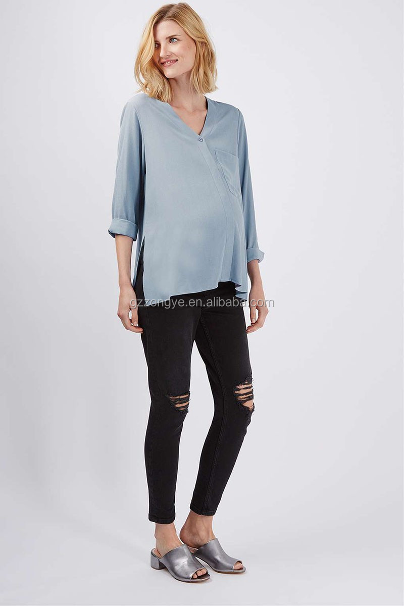 Maternity wear women casual blouse designs