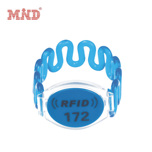 RFID woven wristband with chips
