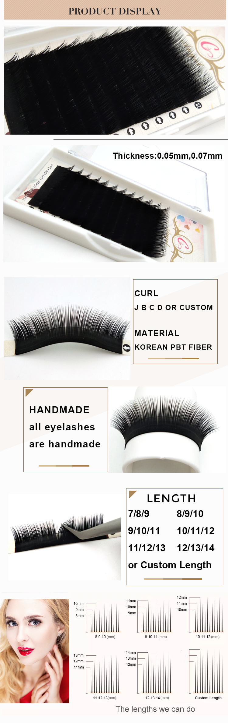 Ellipse Flat Lashes Extension ผ้าไหม Lashes Eyelash Extension แคชเมียร์ Eyelash Extension Easy แฟน Volume Lashes