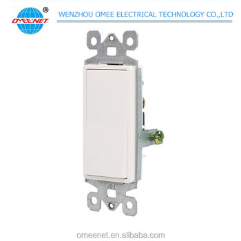 Wenzhou Factory Price PC Material Electrical Decorative Wall Switch