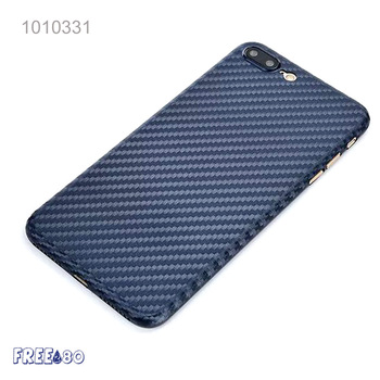 2017 Customize Logo Ultra-thin Braided Pattern Carbon fiber Mobile Phone Case for iphone 7/ 7plus