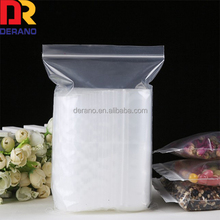 weifang derano custom clear ziplock plastic zipper poly bag for food packaging with food grade