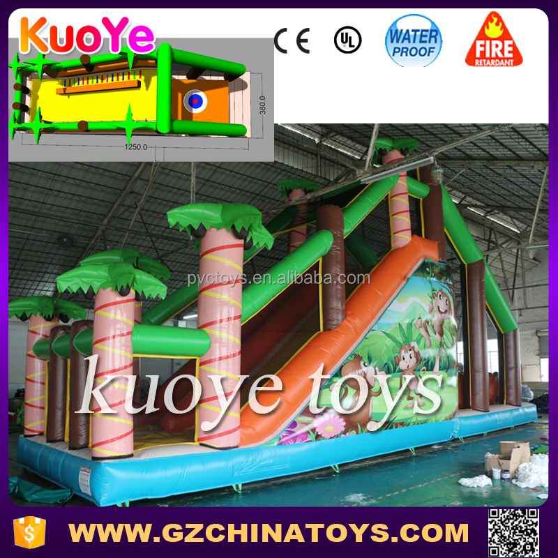 inflatable jump slide inflatable cliff jump rental with air stunt bag
