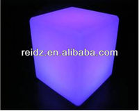 Remote control RGB color changing beautiful cubes plastic bottom for chairs and bar stools