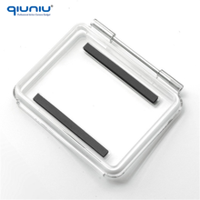 QIUNIU High Quality Standard Waterproof Back Door Replacement Backdoor Case Cover for GoPro Hero 4 3+ 3 Standard Housing Case