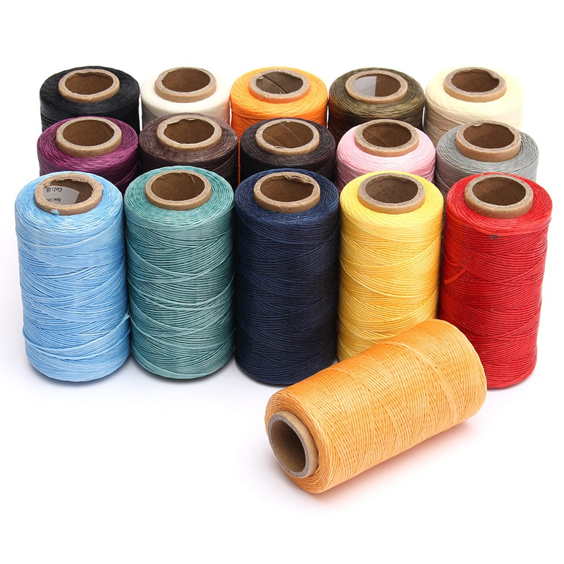 Ecellent Quality 1 Spool 260m 1mm Flat Sewing Coarse Braid Waed Thread For Leather Craft Repair