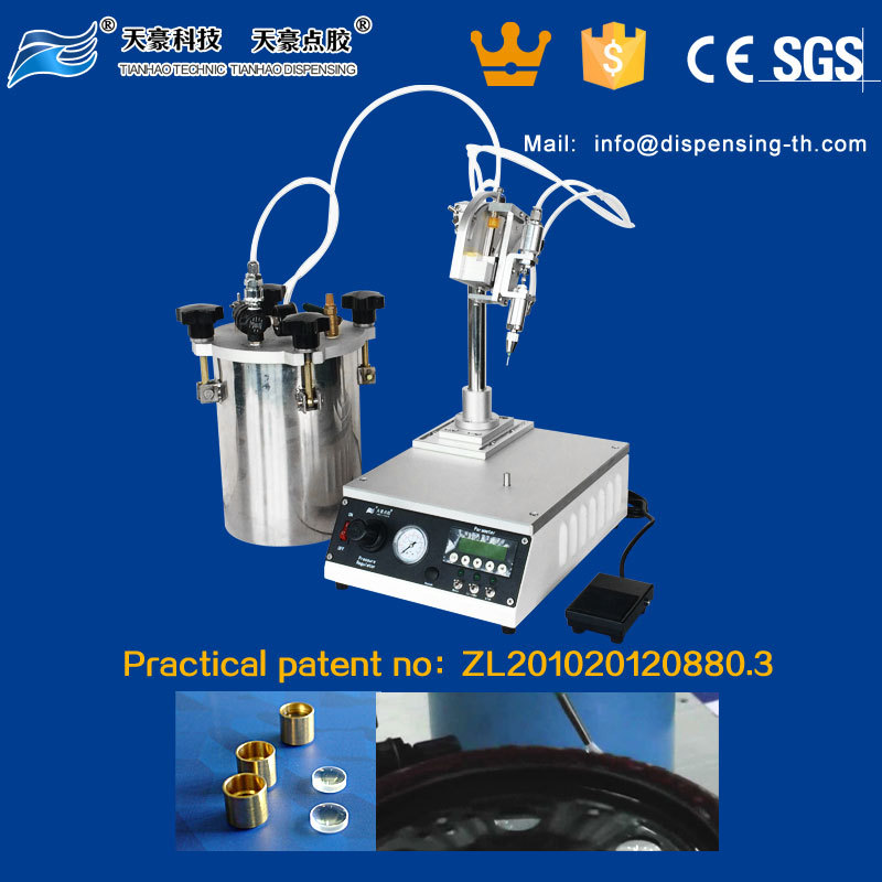 TH-2004L1-4 Rotary table gluing machine for dispensing circular bead