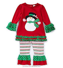 snowman green and red baby clothing Christmas children clothes