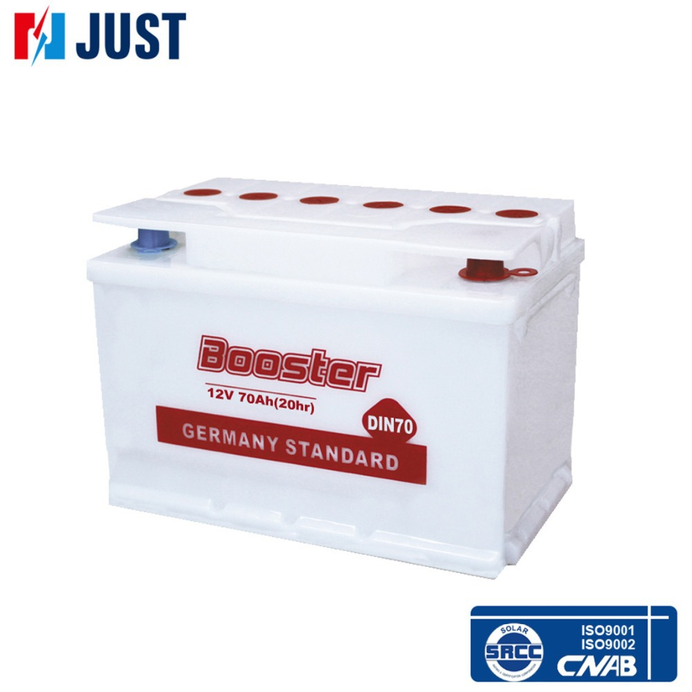 Manufacturing supplier dry charged automobile 12v battery for car DIN70 70ah