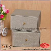 Special paper decorative cardboard drawer storage box for small jewelry