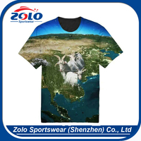 High quality custom made sublimation printing cotton t shirts