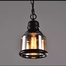 Post-modern Wrought Iron Chandelier Ceiling Lamp Lighting with Edison Bulbs