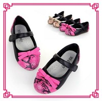 Very Cute Bow Printed Girls Shoes Pink Latest Girls School Shoes