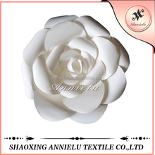 Wholesale white rose paper flower wedding decoration