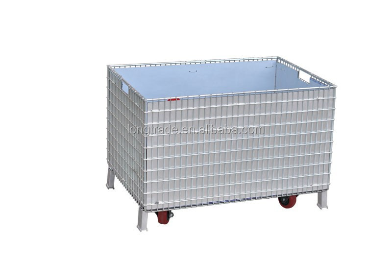 crate Foldable Wire Mesh Pallet Box Storage Cage Container
