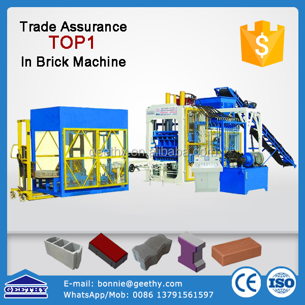 qt10-15 sandstone brick machine/curbstone machine price/pave making machine
