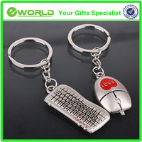 2014 design silver keyboard and mouse meta promotional key chain