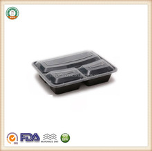 1000ml Microwavable plastic food container 3 compartment containers SGS/FDA Appoval Microwave Oven safe