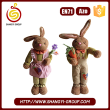 2017 Hot selling standing easter gift craft plush bunny doll
