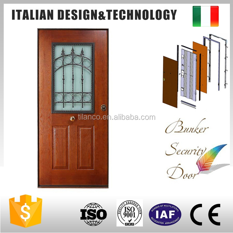 surface finished MDF fireproof wooden door