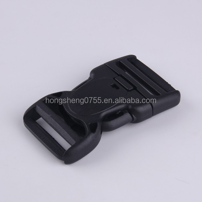 Flat Heavy Duty Dual Adjustable Side Release Plastic Buckles