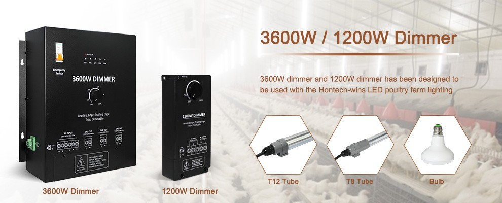 2017 Newest 1200W led dimmer Manual dimmable from 0% to 100% for small chicken farm led light dimmer
