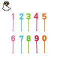 4.4cm Janpan Quality Birthday Party Number Food Picks Bento Picks Fruit Forks