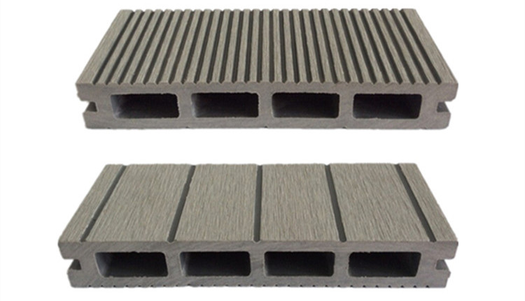 Eco Friendly Wpc Outdoor Decking Floor Wood Grain Grooved