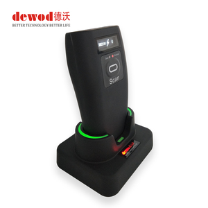 DEWO Wholesale Mini Wireless 2D Barcode Scanner With Display Bluetooth Scanner For IOS Android Smart Phone