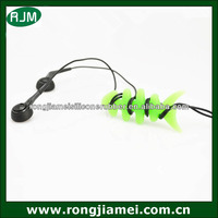 High quality fish bone silicone wire keeper headphone cable organizer