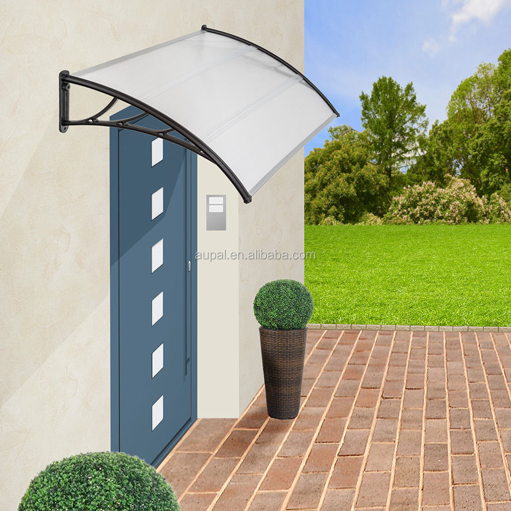 outdoor polycarbonate rain protection for windows canopy size 900x1400mm canopy CZCP-S5