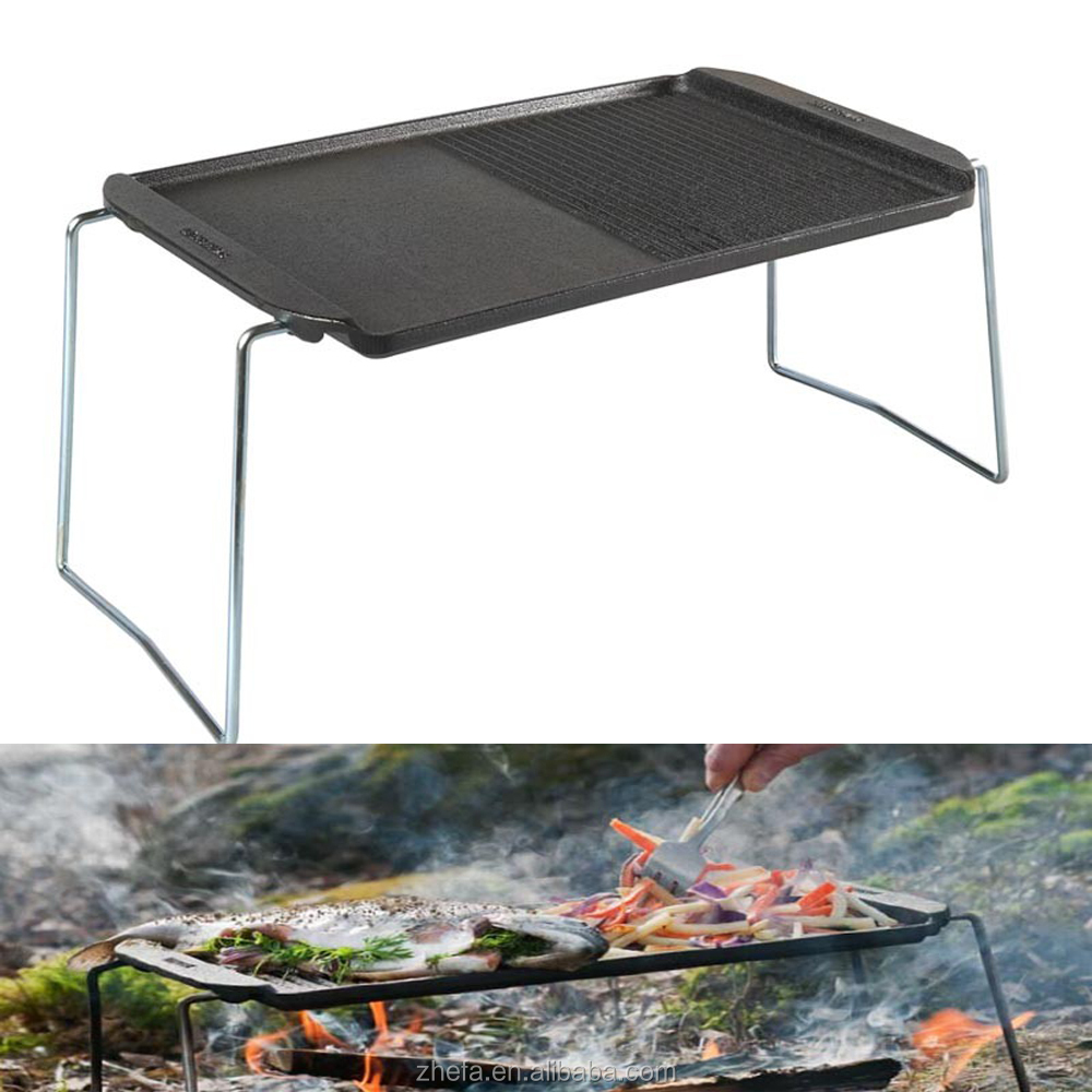 Outdoor Camping Simple Cast Iron BBQ Grill