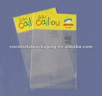 Resealable plastic hang hole bags for Christmas present packing