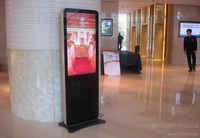 Double sided lcd vertical advertising monitor