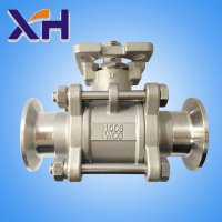 2015 the best product DN65 Three chip flange quick mounted platform ball valve