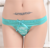 Beautiful fashion sexy women lace thong panties for female wholesale stock thong underwear