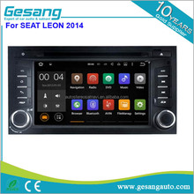 2 din Car GPS Navigation with BT Radio 3G/Wifi Android 5.1 car dvd player for SEAT LEON 2014