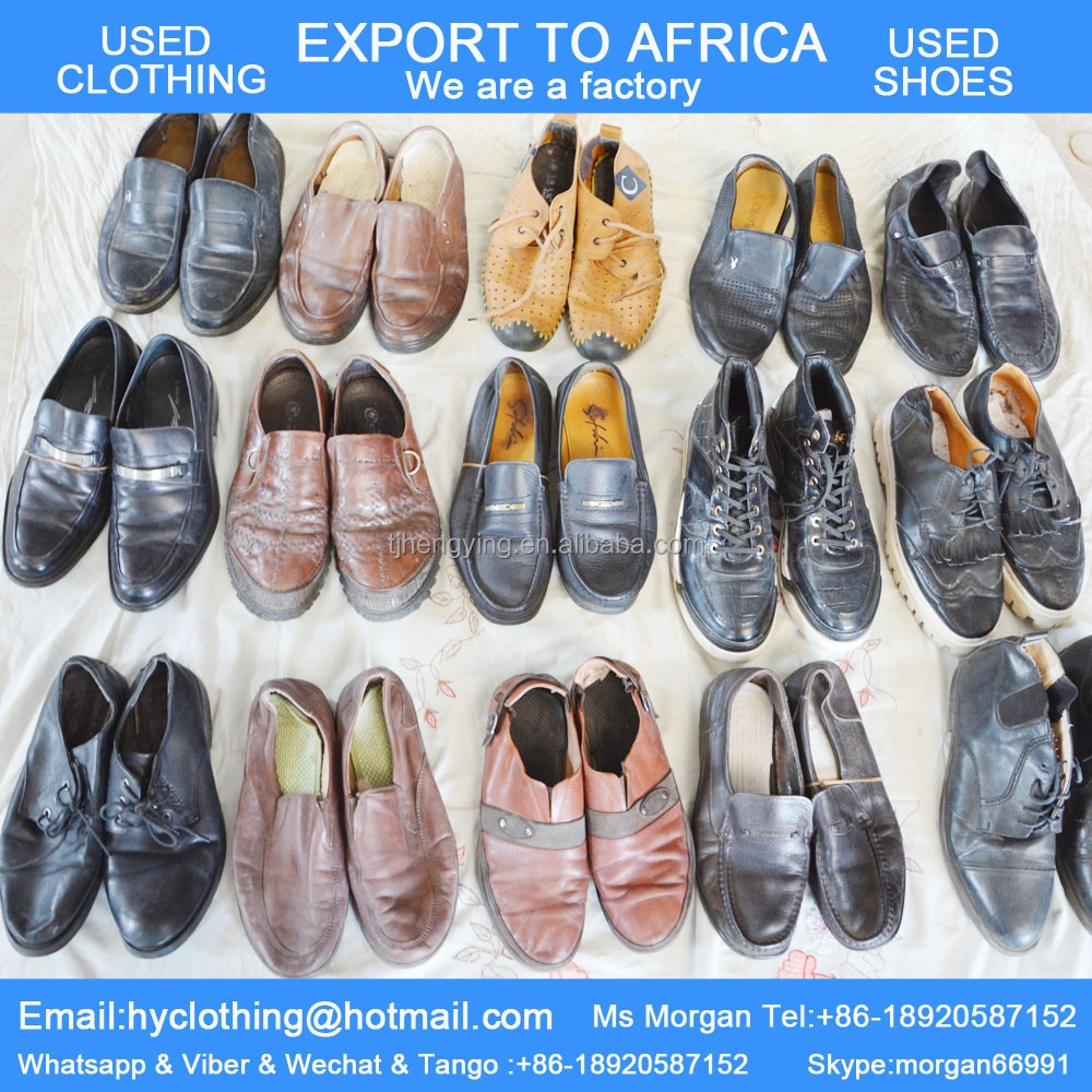 big stock of tidy second hand shoes used shoes in bales