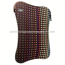 colorful neoprene laptop sleeve with zipper