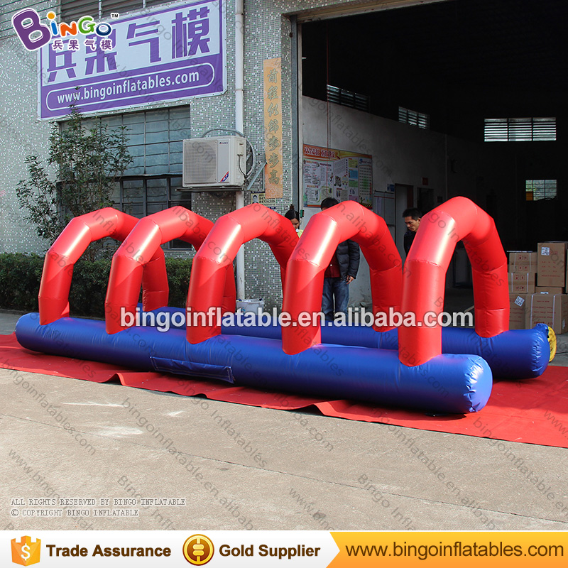 inflatable adult tunnel racing way games air obstacle channel for backyard