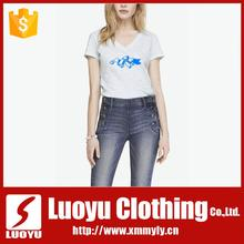 New fashion soft fit v-neck t shirts
