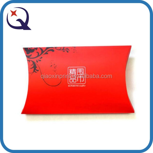 Red pillow shape wedding candy box/wedding favors candy pillow boxes