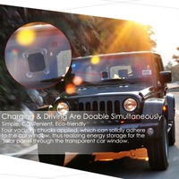 emergency mobile power bank 6000mah window solar charger for car