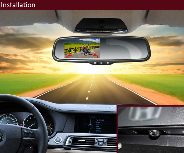 Premium OEM stytle rear view mirror monitor with backup camera 4.3 inch lcd auto dimming rearview mirror for hyundai elantra
