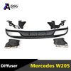 Mercedes C class W205 C63 Look ABS Rear bumper diffuser with exhaust tips for W205 basic trim model 2015 - 2016