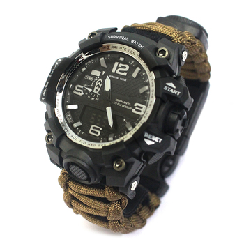 Amazon paracord Bracelet Self-rescue Parachute Cord Bracelets Outdoors Survival watch