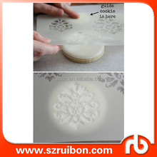 Plastic flower stencil for cake,PET cake stencil for decoration