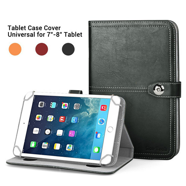 C&T Tribal Design Universal PU Leather Tablet Folio Case for 8-Inch Tablets and iPad