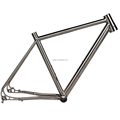 cyclocross titanium road disc bike frame for 142*12 thru axle dropout